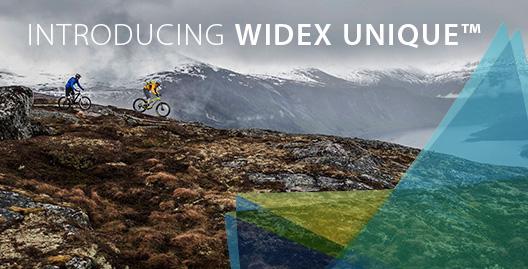 Widex unique header banner