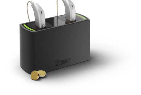 Oticon_Opn_miniRITE_C091SilverGrey_ZPower_Charger_LeftView_with_batteries_200pct_size
